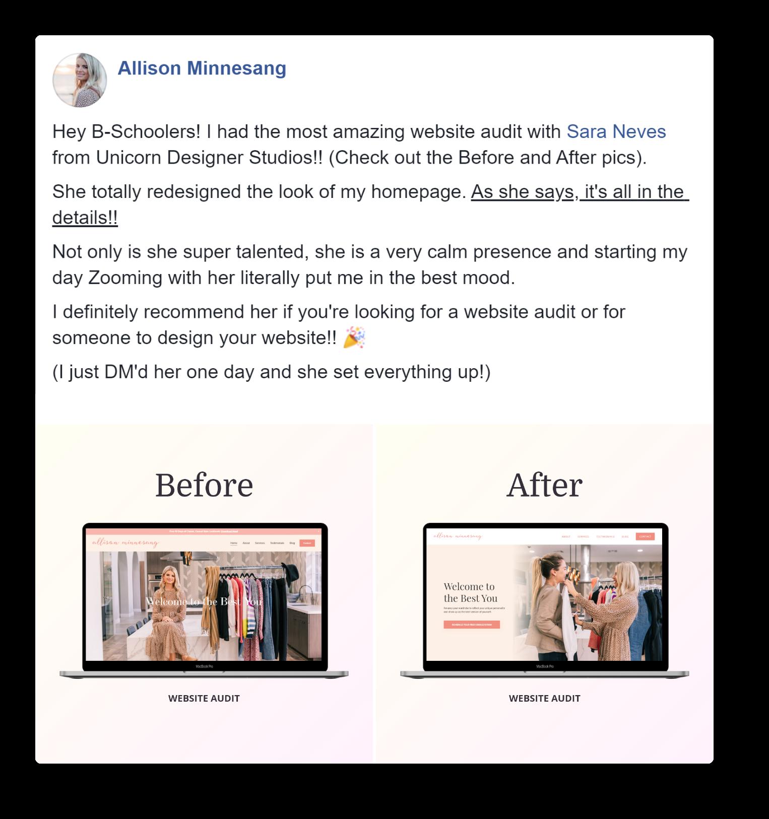 Website Audit Allison Minnesang