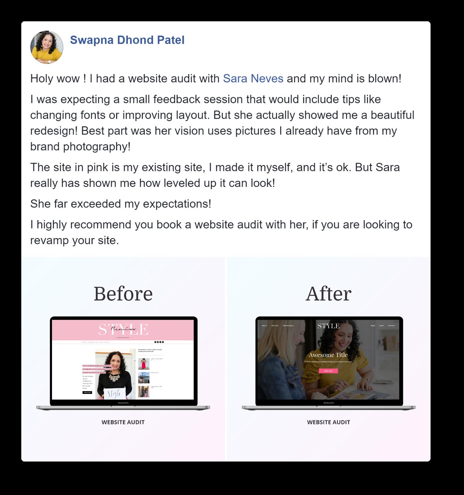 Website Audit Swapna Patel